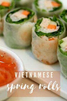 Vietnamese Salad Rolls, Vietnamese Spring Rolls, Food Videos, Recipe Videos, Healthy Asian Recipes, Peanut Sauce, Salad Dressing, Fresh Rolls, Appetizers