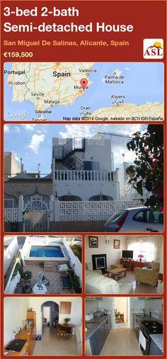 3-bed 2-bath Semi-detached House in San Miguel De Salinas, Alicante, Spain ►€159,500 #PropertyForSaleInSpain