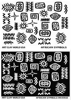 Flexistamps Texture Sheet Set African Symbol Designs (Including African Symbol and African Symbol Inverse)- 2 Pc.