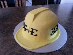 Hard Hat Safety Cake... for my lineman groom!