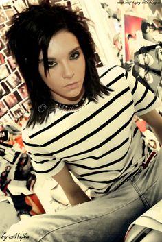 In stripes...
