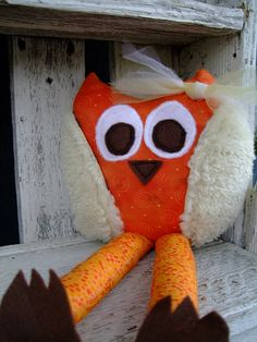 Whimsical Owl Stuffed Owl Toy by OurPlaceToNest on Etsy, $15.00