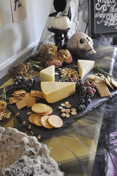 Hosting your very own Halloween party? Checkout this ultimate list of adult halloween party ideas to make your bash one to remember. Halloween Tags, Halloween Dinner, Halloween Food For Party, Halloween Birthday, Diy Halloween Decorations, Halloween Buffet, Halloween Housewarming Party, Classy Halloween Wedding, Halloween Entertaining
