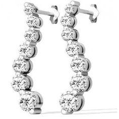 Diamant Ohrringe aus 585er Weißgold mit 1.00 Karat Diamanten. Diese Diamantohrringe sind für nur 1299.00 Euro bei www.juwelierhausabt.de erhältlich.