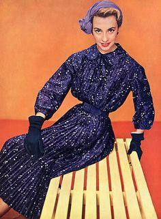 Christian Dior 1954 Summer Dress, Photo Philippe Pottier #dior #fashion
