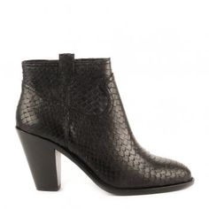 Ash IVANA Ankle Boots Black Python Scale Leather, AW15.