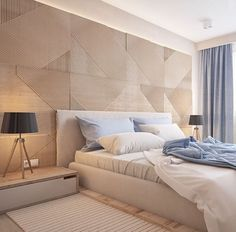 Cream and blue bedroom Master Room, Master Bedroom Design, Modern Bedroom, Bedroom Decor, Teen Bedroom, Dream Bedroom, Home Interior, Interior Design Living Room, Suites