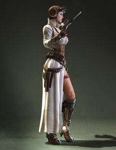 Dieselpunk Princess Leia