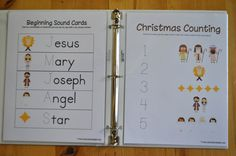 Nativity Preschool Pack You have to follow the link to a second website to download and print.
