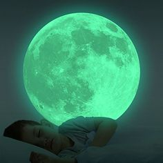 Homics Glow In The Dark Moon Wall Decals 30cm Luminous Sticker At Night, Perfect Ceiling or Wall Decor For Kids' Bedroom (Green) -- Check out the image by visiting the link. (This is an affiliate link) #PaintingSuppliesWallTreatments