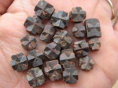 Australian Raw Natural Staurolite / Maltese Crosses / Fairy Stones Mineral Crystals ~ Mt Isa ~ 2 Pcs by Shazesloveofstones on Etsy
