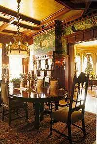 Elegant Victorian era interior.  Dining room.
