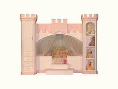 Text Box: Princess Castle Bunk Bed by Sweet Dream with twin loft bed and cozy under bed. Big Girl Bedrooms, Girls Bedroom, Princess Loft Bed, Princess Castle, Kids Bed Design, Bedroom Themes, Bedroom Ideas, Bed Ideas, Bedroom Decor