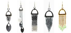 #Chainmaille weave ideas on the B3 Blog! D toggles as earrings and some uses for our square wire jump rings.