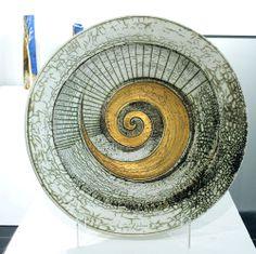 Laurel Keeley, large #ceramic dish at Devon Guild of Craftsmen