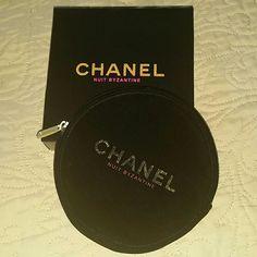 Velvet Chanel Makeup Case Pouch Box