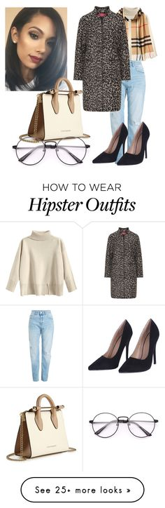 """""""animal prints contest"""" by notorius3sam on Polyvore featuring Strathberry, Burberry and Marina Rinaldi"""