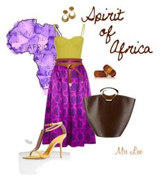 Spirit of Africa by mrs-len on Polyvore featuring mode, House of Holland, sass & bide, Burberry, Louis Vuitton and ASOS