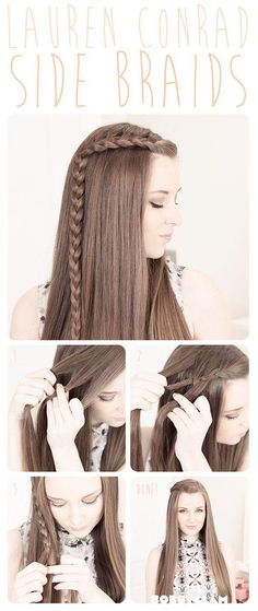 Cute, easy, braid! You can do this if you're running late and only have 5 minutes to get ready. :) #Peinados de novia