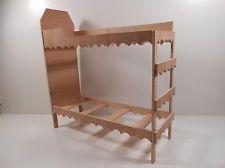 Monster High Furniture - 1:6 Scale Dorm Bunk Bed. UNASSEMBLED, UNFINISHED.