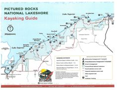 Map of Pictured Rocks National Park Upper Michigan