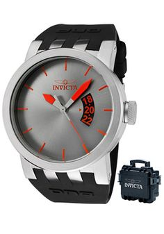 Invicta Men's DNA Gray Dial Black Polyurethane ○ FYI MSRP: $895 Reg Price: $169.99 On Sale: $65.99