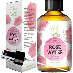 ROSE WATER TONER by Teak Naturals - 100% Organic Natural Moroccan Rosewater (Chemical Free) - 4 oz ** Details can be found by clicking on the image. (This is an affiliate link) #ToolsAccessories
