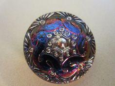 Vintage ButtonCzech Glass beautiful iridescent by pillowtalkswf, $5.25
