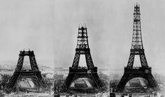 Foto na História: Construção da Torre Eiffel