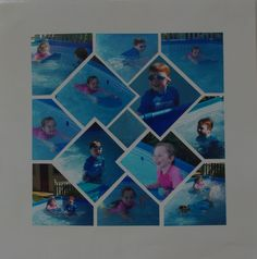 Scrapbook Layout Idea; Photo collage designed by Betty Roberts using Card Tricks Stencil.