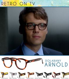 So hooked on Fringe! As a retro and vintage eyewear fan I've enjoyed seeing how much the retro look has influenced this show. Take for example actor, Seth Gabel who plays Lincoln Lee on Fringe. These retro frames fit him well and anybody can have this look. Check out the Dolabany Arnold found in many different colors here: The Dolabany Collection - Arnold.