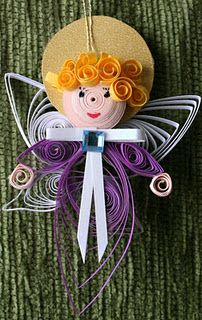 quilled angel--lauren knows how to do this!