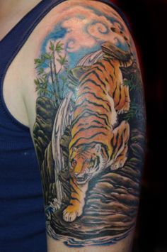 tiger sleeve tattoo - Google Search