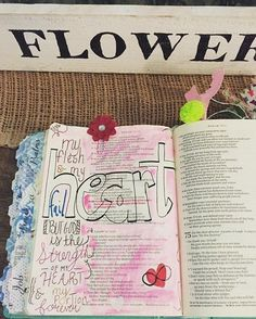 One of my absolute faves!!! He is the strength of my heart he is mine forever. Psalm 73:26 #biblejournaling #art #psalms #love #tattoo