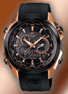 Shop Casio Edifice Black Label Rose Gold Solar Mens Watch free ground  shipping 0ac159f14c
