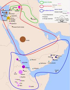Semitic  Geographic  distribution:Middle East, North Africa, Northeast Africa and Malta  Linguistic classification:Afro-Asiatic   Semitic    Proto-language:Proto-Semitic  Subdivisions:East Semitic (extinct)  Central Semitic  South Semitic    Approximate historical distribution of Semitic languages