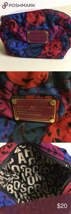 Marc Jacobs makeup bag Nice puffy floral print, roomy makeup case. Marc by Marc Jacobs Accessories