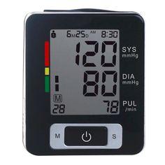 Sale Automatic Wrist Blood Pressure Monitor Tonometer Meter Digital LCD Screen Portable health care sphygmoometer