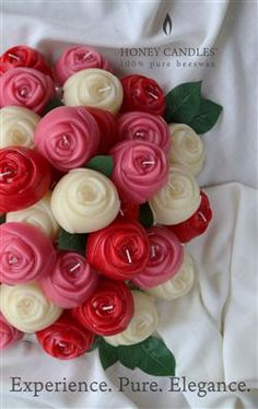 Beeswax Rose Candles at Your Wedding