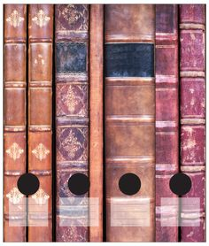 Decorate your bookshelf with old books. Self-adhesive Lever Arch labels. 4 different labels in a packet.