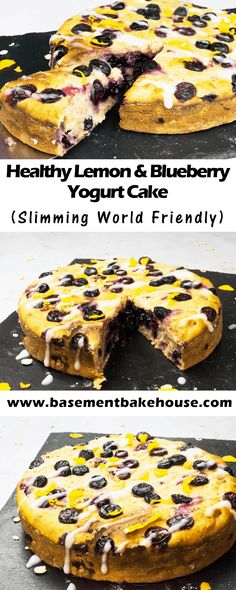 This mouthwatering Healthy Lemon & Blueberry Yogurt Cake is packed with healthy flavours, high nutrition ingredients and lots of flavour. It's the perfect Slimming World friendly dessert, made with St Helen's Farm goats milk yogurt. Perfect for breakfast, Healthy Cake Recipes, Healthy Desserts, Healthy Drinks, Healthy Eats, Healthy Baking, Desserts Diy, Mexican Desserts, Healthy Yogurt, Nutrition Drinks