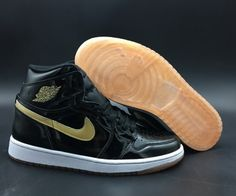 5684d02cc1bab1 Top Quality Air Jordan 1 Retro High OG Black Metallic Gold White Black And  Gold Jordans