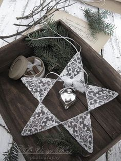 Déco romantique pour un Noël blanc