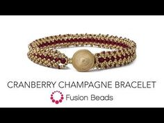 Learn how to make the Cranberry Champagne Bracelet by Fusion Beads - YouTube