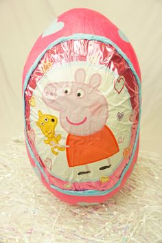 Check out our Peppa Pig Surprise Egg or order something custom. Let us know :)   They are like the New Pinatas but these Surprise eggs are usually filled with Toys instead of Candy. Order your Surprise egg now and fill it up with awesome prizes to bring smiles into the world! Formed with carefully measured and cut cardboard strips to make an egg shape, and reinforced with paper mache.   Opening is cut in the back to fill and retrieve prizes. Can be reusable