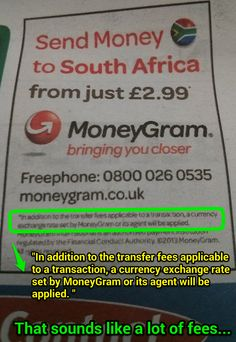 Moneygram Is Advertising Flat Fees Again This Misleading As Their Are Not They Often Hidden In Poor Exchange Rates