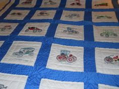 Antique Car Handmade Quilt with Wall Hanging to by MissPattisAttic
