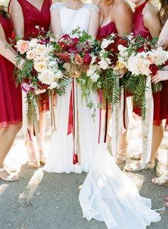 Bouquets for days: http://www.stylemepretty.com/2015/07/24/rustic-chic-late-summer-napa-valley-wedding/ | Photography: Josh Gruetzmacher - http://www.joshgruetzmacher.com/