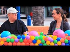 A ball pit that turns strangers into friends- so awesome!