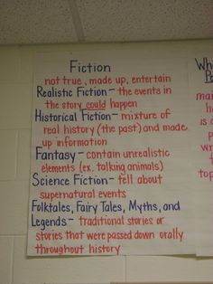 Fiction Anchor Chart